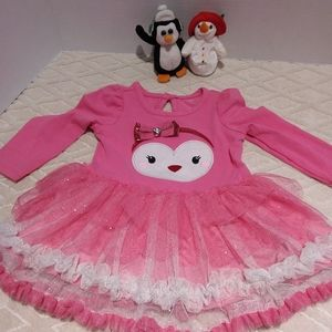 Nanette owl dress with layered tulle skirt